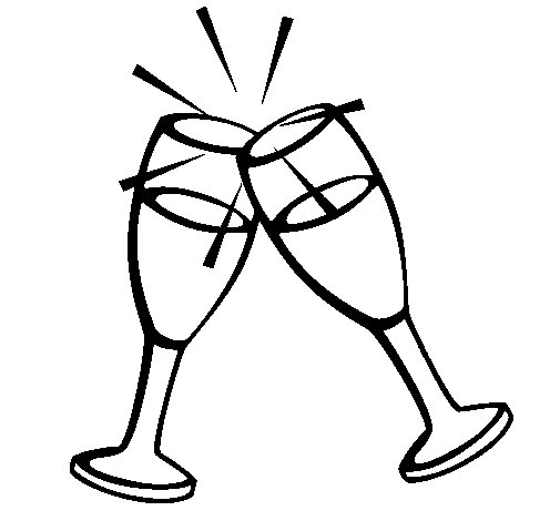 Champagne coloring page