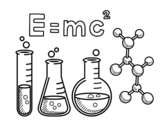 Chemistry class coloring page