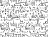 Christmas cats coloring page