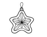 Christmas decoration Star coloring page