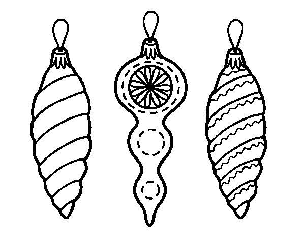 Christmas decorations Christmas tree coloring page