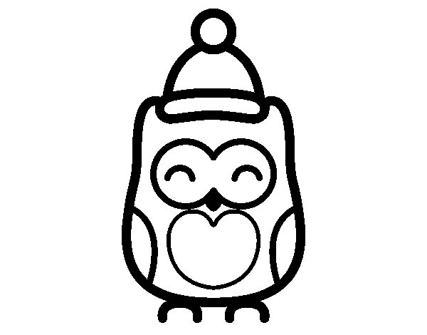 Christmas owl coloring page Coloringcrewcom