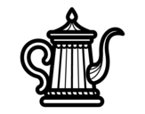 Classic Teapot coloring page