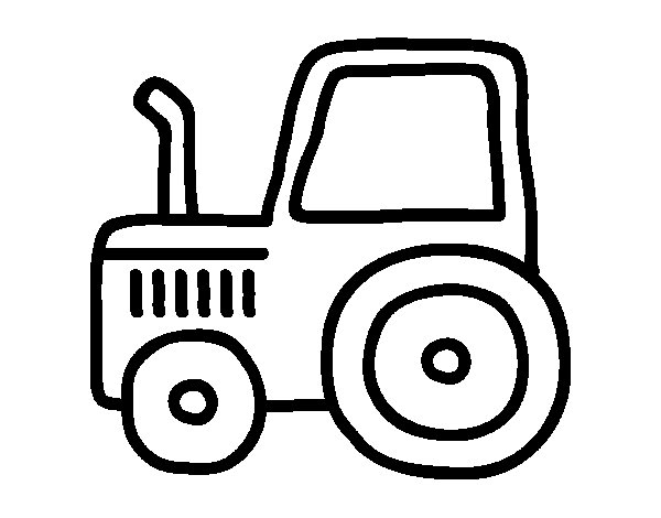 Classic tractor coloring page