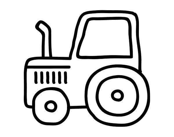 Simple Tractor Coloring Pages.  Classic tractor coloring page Coloringcrew com