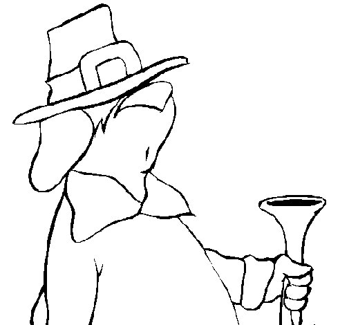 Clumsy pilgrim coloring page