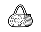 Dibujo de Clutch with card game motifs