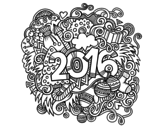 Collage 2016 coloring page