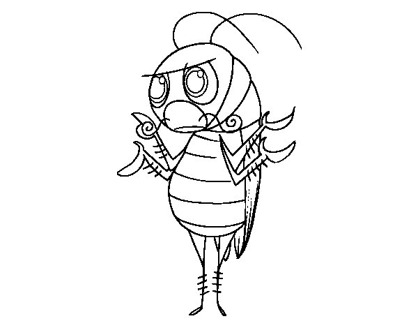 Common cockroach coloring page