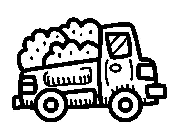 Construction pick-up truck coloring page