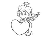 Dibujo de Cupid and a heart