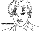 David Bisbal foreground coloring page