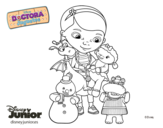 Doc McStuffins and her friends coloring page
