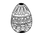 Easter egg decorated with stamping coloring page