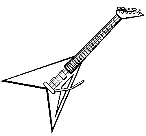 Electric guitar ii coloring page for Electric guitar coloring page