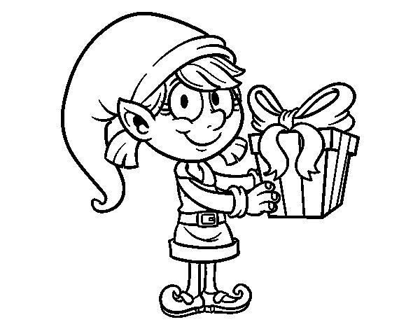 Girl Elf Coloring Page - Eskayalitim