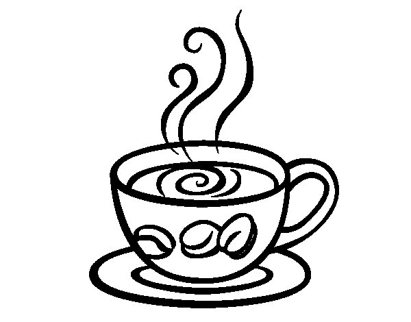 coffee coloring pages - photo#9