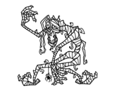 Evil Mummy coloring page