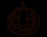 Evil pumpkin coloring page