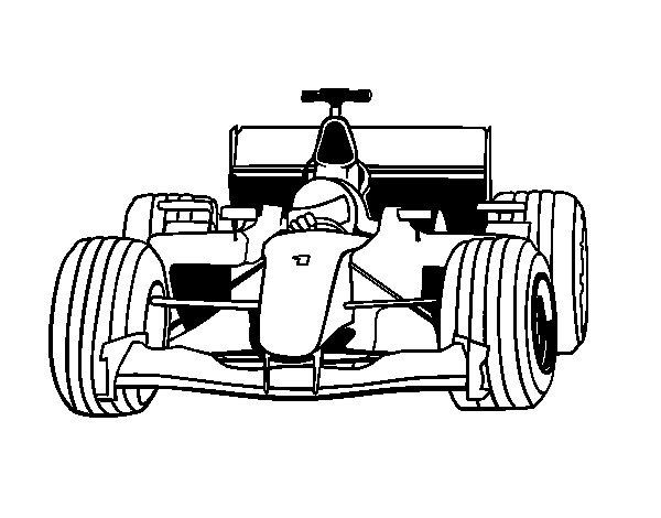 F1 Car Coloring Page Coloringcrewcom