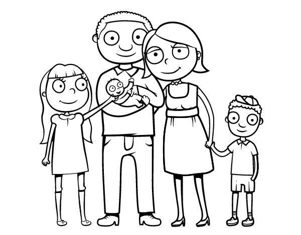 Family together coloring page  Coloringcrewcom