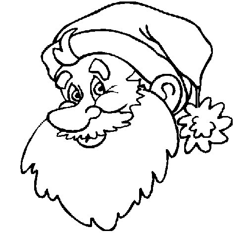 Father Christmas face coloring page