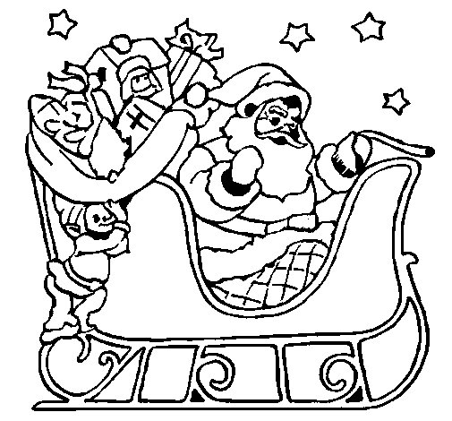 father christmas online coloring pages - photo#7