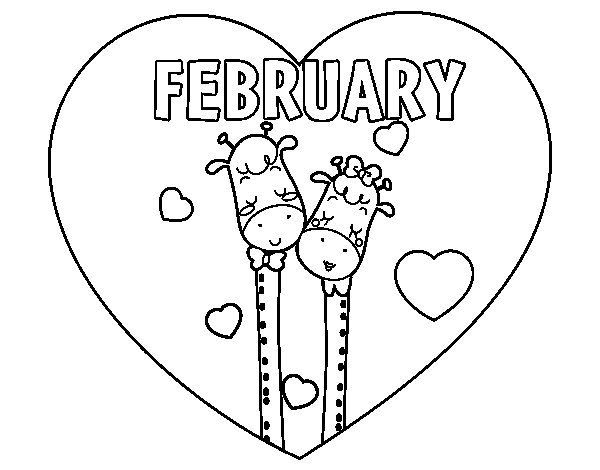 coloring pages february - photo#19