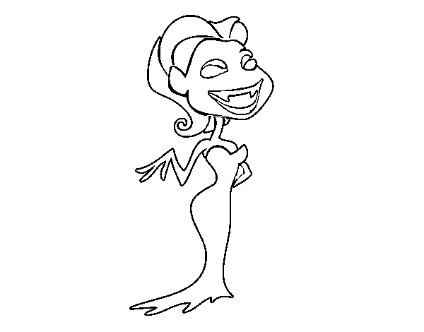 female vampire coloring page coloringcrewcom - Vampire Pictures To Color