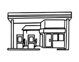 Filling station coloring page