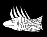 Fish-Lion coloring page
