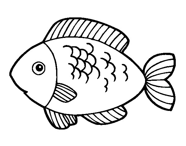 fish to eat coloring page