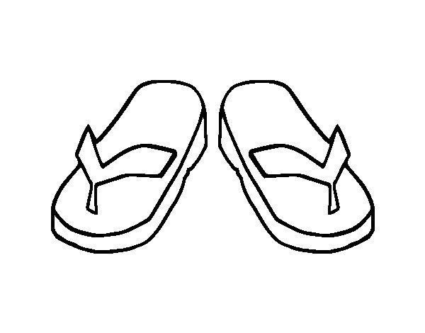 flip flop coloring page - flip flops coloring page