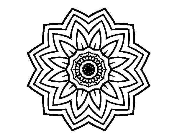 Flower mandala of sunflower coloring page