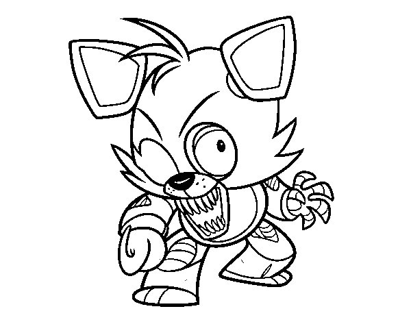 Foxy from Five Nights at Freddy's coloring page