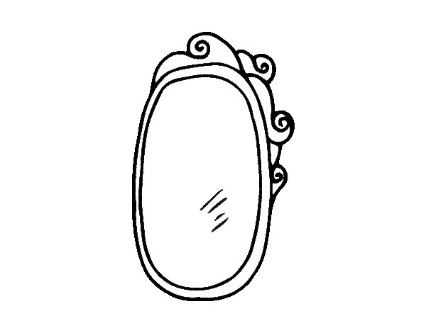coloring pages mirror - photo#9
