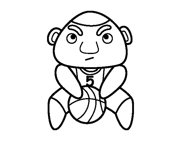 Free throw coloring page