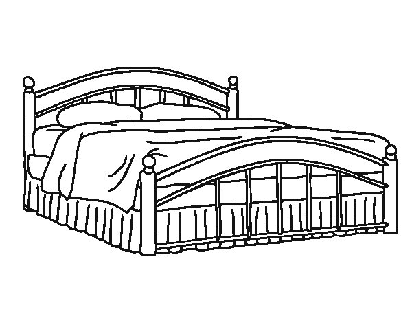 Fullsize bed coloring page Coloringcrewcom