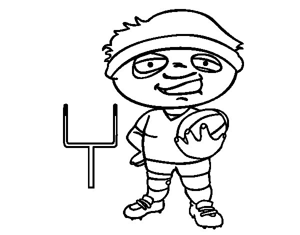 Fullback coloring page