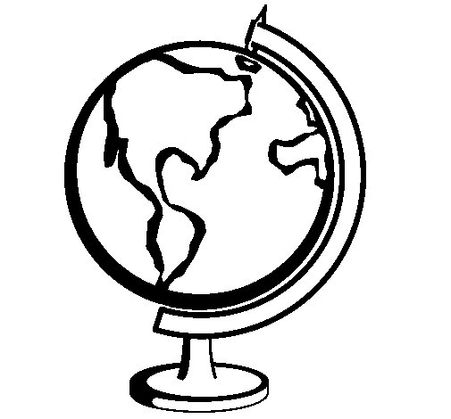 Globe II Coloring Page