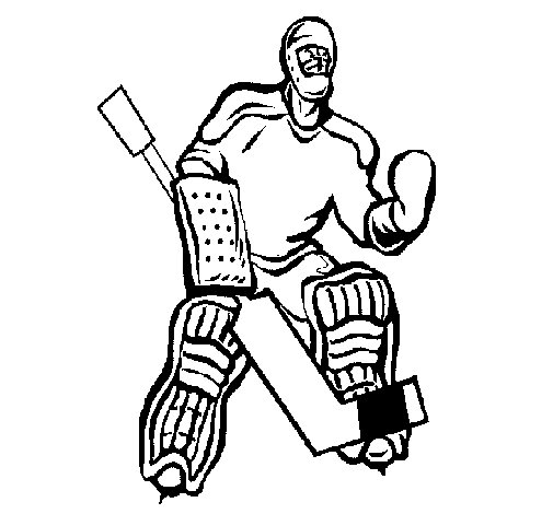 Goaltender coloring page