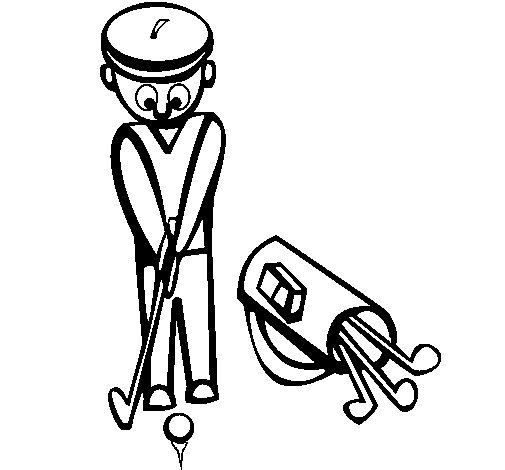 Golf II coloring page