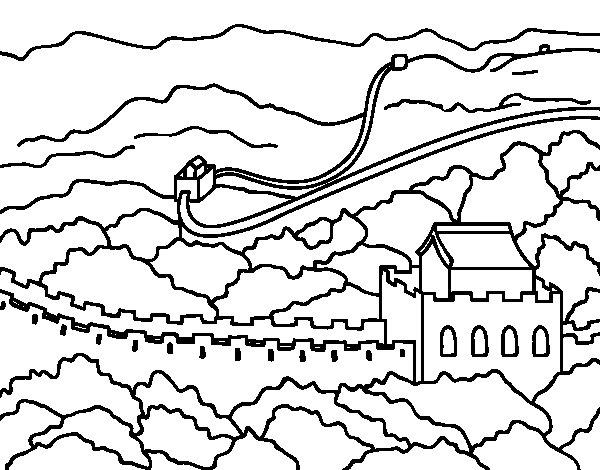 great wall of china coloring page - Great Wall China Coloring Page