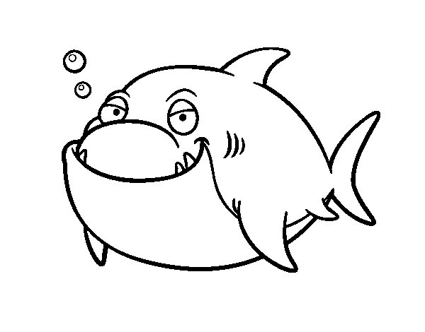 Great White Shark Coloring Page Coloringcrew Com Great White Shark Coloring Pages