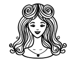 Hairstyle: bangs coloring page