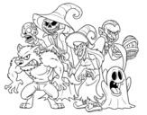 Dibujo de Halloween Monsters