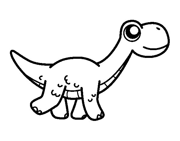 Happy Diplodocus coloring page