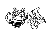 Harvest bee coloring page