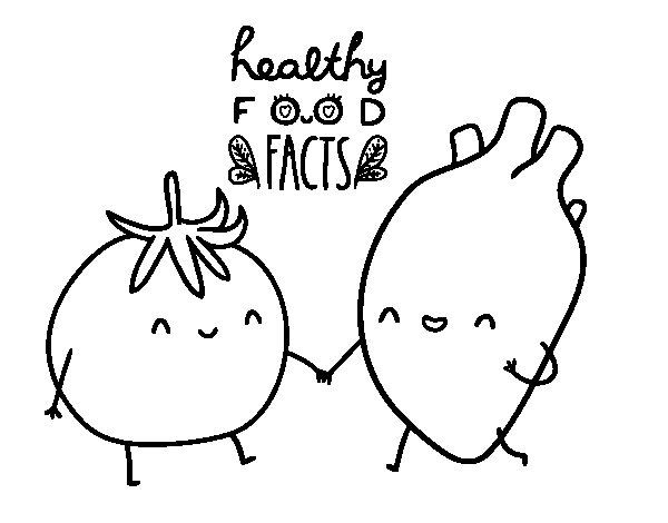 Healthy food coloring page Coloringcrewcom