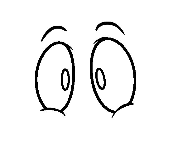 Human eyes coloring page